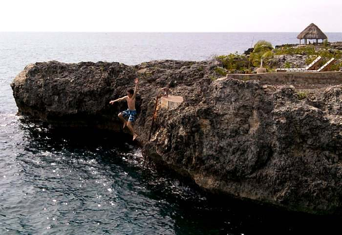 Cliff Jumping in Negril Jamaica