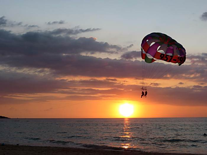 Parasailing at Sunset in Negril Jamaica