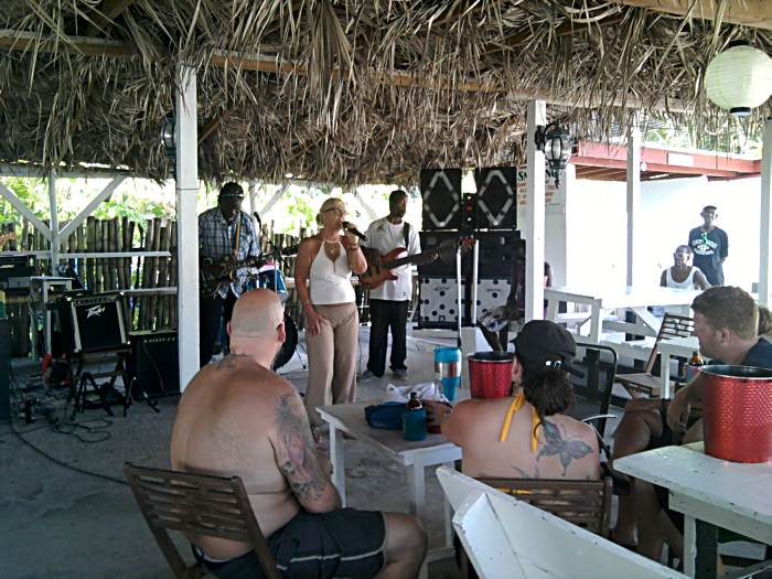 Agneta at Drifters in Negril Jamaica