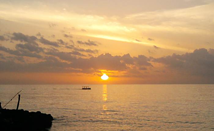 Sunset at the German Bar in Negril Jamaica