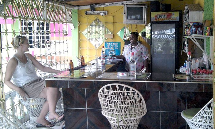 Bar at Pamela's in Negril Jamaica