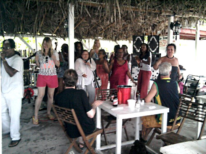 Luddy and the Ladies in Negril Jamaica