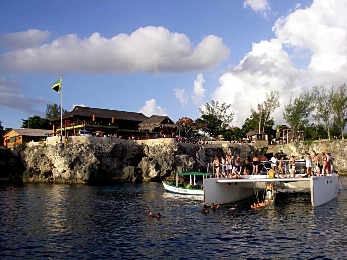 Sunset Ritual at Rick's Cafe in Negril Jamaica