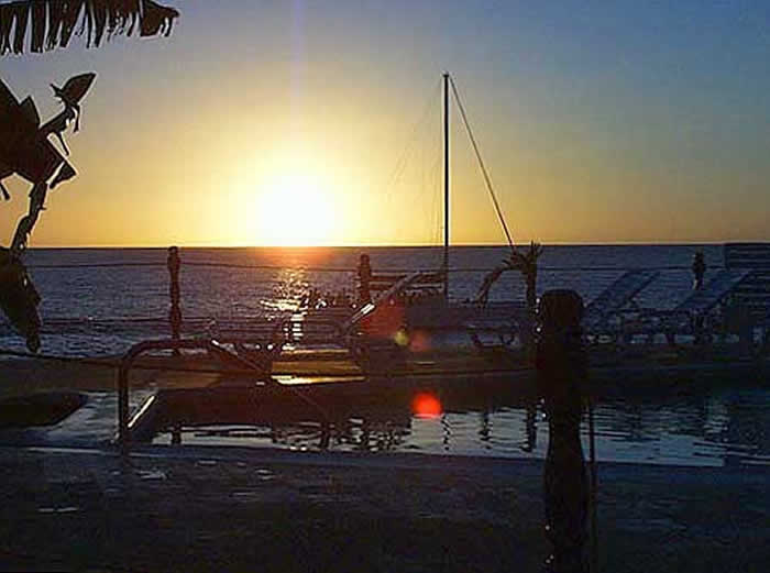 Poolside Sunset in Negril Jamaica
