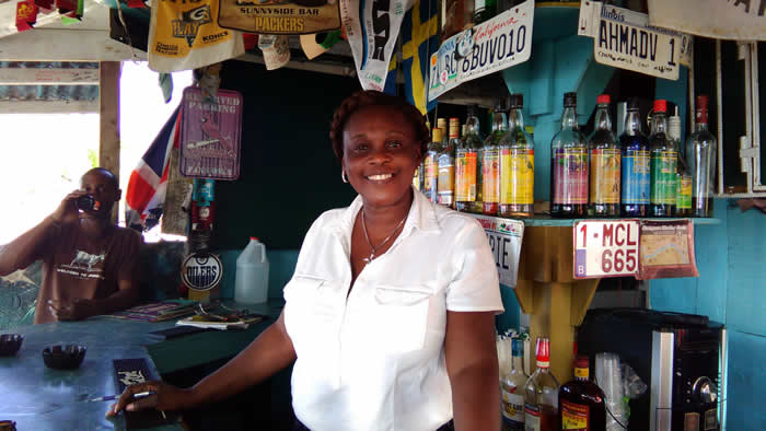 Sunnyside Bar with Maureen in Negril Jamaica